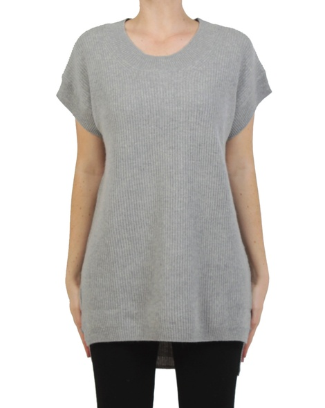 Woolly tunic knit grey front