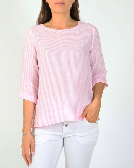 Heath linen top pink A