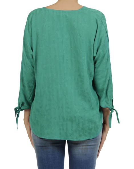 embroidered  odette top green B