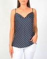 Spotty cowl neck navy A